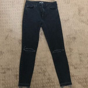 Black jeans from Nasty Gal